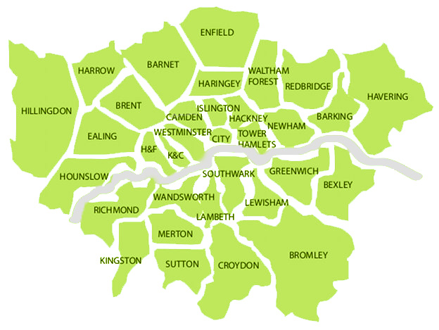 London Map Areas.Cleaning Areas We Cover In London Lina Cleaning